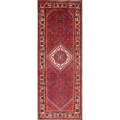Isabelline One Of A Kind Malchow Hamedan Traditional Persian Hand Knotted Runner 3 10 X 10 2 Wool Red Area Ru Traditional Persian Rugs Red Area Rug Area Rugs