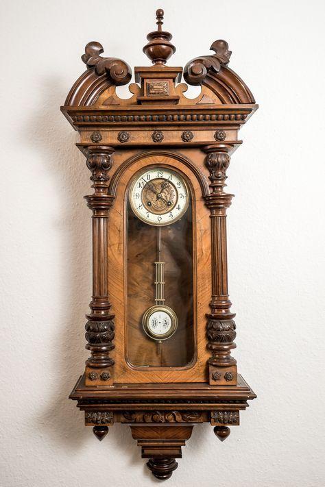 Uhren Stilvolle Grunderzeit Antiquitaten Decoration Pendule Horloges