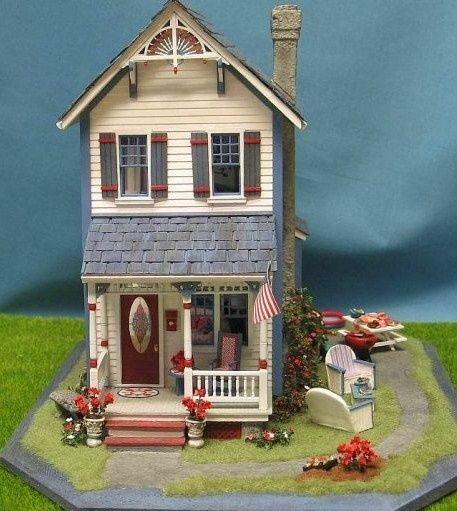 Spring Landscape Miniature Dollhouse Doll House Picture
