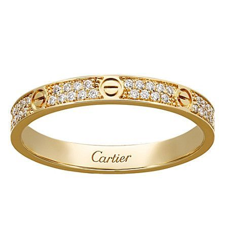 Wedding Ring Discover Love 18ct Yellow Gold And Diamond Ring In 2020 Cartier Love Ring White Gold Engagement Rings Unique Gold Diamond