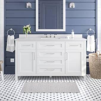 Currahee 60 Single Bathroom Vanity Set In 2021 Single Bathroom Vanity Bathroom Vanity 60 Inch Vanity