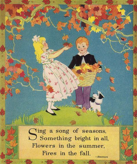 Sing a song of seasons ~ unknown illustrator.