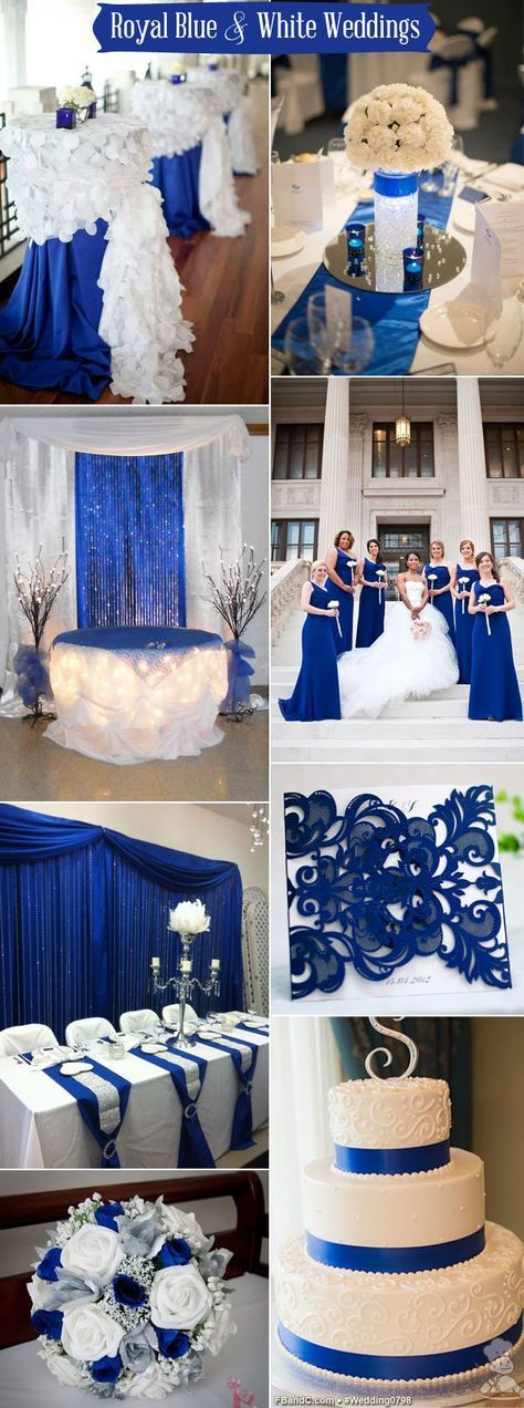 royal blue and silver wedding centerpieces%0A Our Royal Blue Wedding  Family Styled Seating Reception Table  Blue  Goblets  Blue Reception Decor  Candelabras  Silver Chargers  Ivory and  W u