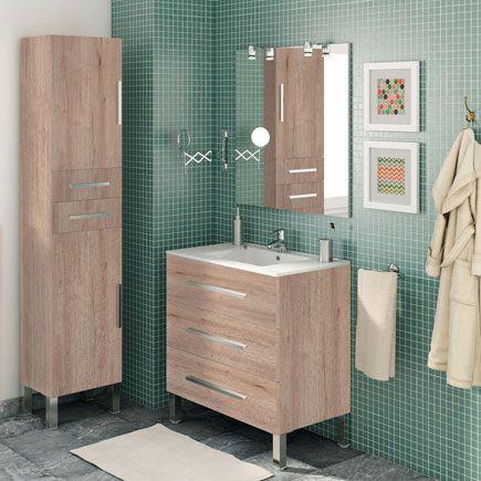 Mueble Baño Madrid Amarillo 60 X 45 Cm Leroy Merlin Muebles De Baño Muebles De Lavabo Diseño Baños Pequeños