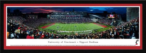 Pin By Laminated Visuals On College Football Panoramic Pictures Panoramic Print University Of Cincinnati