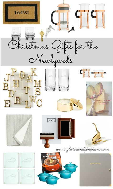 The Best Gifts For Newlyweds Glitter Gingham Newlywed Gifts Newlyweds Best Gifts