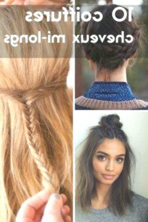 Cheveux Mi Longs 10 Coiffures Faciles A Faire Soi Meme Hair Styles French Twist Hair Twist Hairstyles