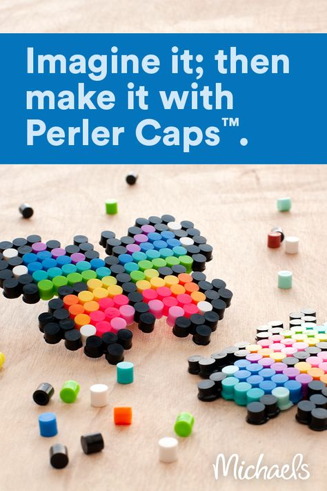 Whatever kids imagine, they can make with Perler Caps™ fused beads from Michaels.