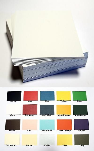 Pack of 50 sheets 11x14 UNCUT mat matboard WHITE Color topseller100