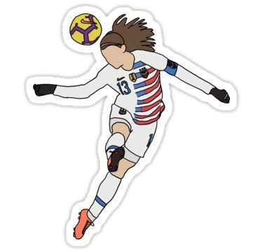 Alex Morgan Sticker By Lindsey Barrett In 2020 Alex Morgan Usa Soccer Women Uswnt