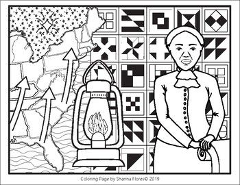 History Harriet Tubman Zen Coloring Page Slavery Freedom