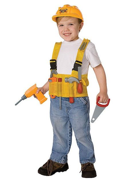 Homemade Construction   Worker Kids Costume