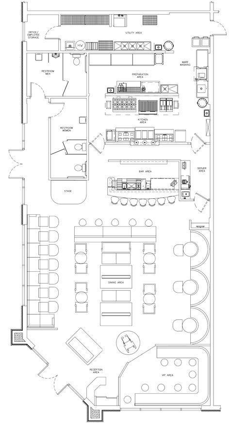 Kitchen Design Restaurant Plan 22 Ideas For 2019 In 2020