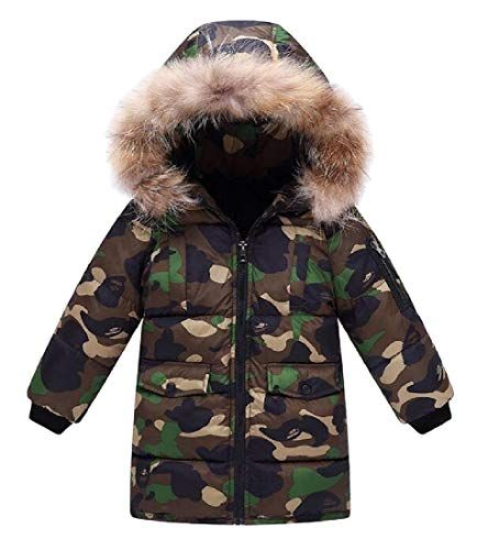Joe Wenko Men Winter Puffer Down Removable Faux Fur Hood Parkas Coats Jacket