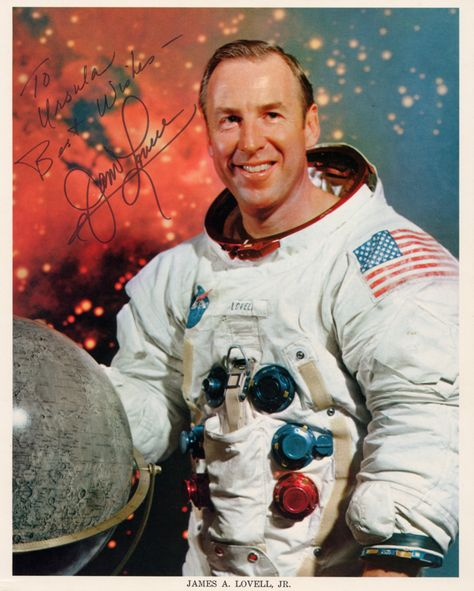 James Lovell, commander of the Apollo 13 moon landing mission.
