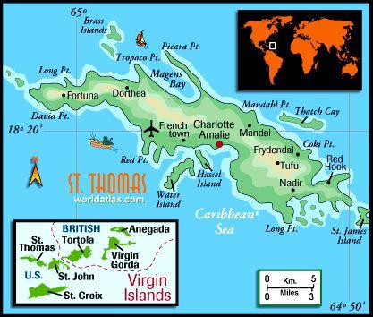 st thomas on world map St Thomas Map St Thomas