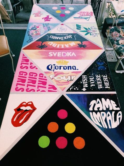 decorated beer pong table beer painting Be Beer Pong Tables, Ping Pong Table, Drinking Games For Parties, Party Animals, Diy Painting, Cooler Painting, Diy Table, My New Room, Party Time