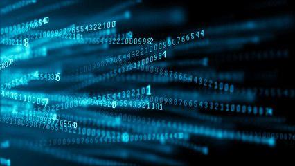 Data Technology Background Big Data Visualization Flow Of Data