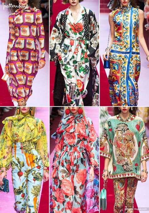 Patternbank brings you a concise overview of the most important print & pattern collections, from Spring 2018 RTW Milan shows. Marni Images viaVogue P