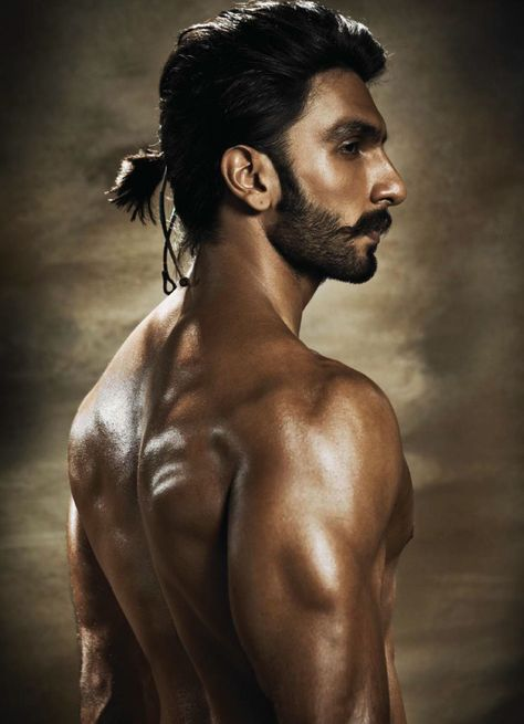 Bollywood actor, Ranveer Singh, for a movie.  Love the hair and facial hair.