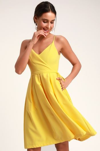32++ Yellow cocktail dress information