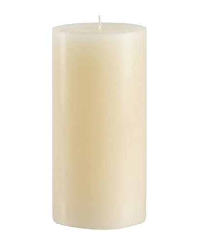 Dripless Made in USA 4 Inch x 6 Inch Bulk Ivory Pillar Candles Candles4Less Set of 3 Unscented Solid Color Hand Made with Cotton Wicks