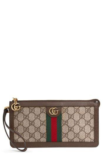 d9330a13a Gucci GG Supreme Canvas Travel Wristlet in 2019 | Women's Designer ...