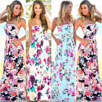 Women S Summer Vintage Boho Long Maxi Evening Party Beach Dress Floral Sundress Vova Floral Dresses Long Long Summer Dresses Summer Dresses For Women