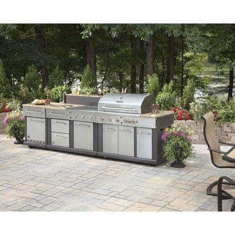 Details About Huge Outdoor Kitchen Bbq Grill Sink Refrigerator