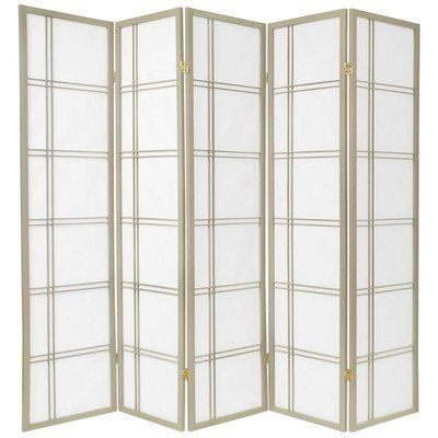 Marla 5 Panel Room Divider Room Divider Shoji Screen Sliding Room Dividers