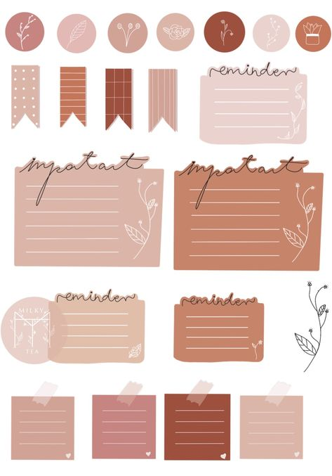 CUTE MINIMALISTIC DIGITAL STICKERS FOR GOODNOTES bullet journaling and planners