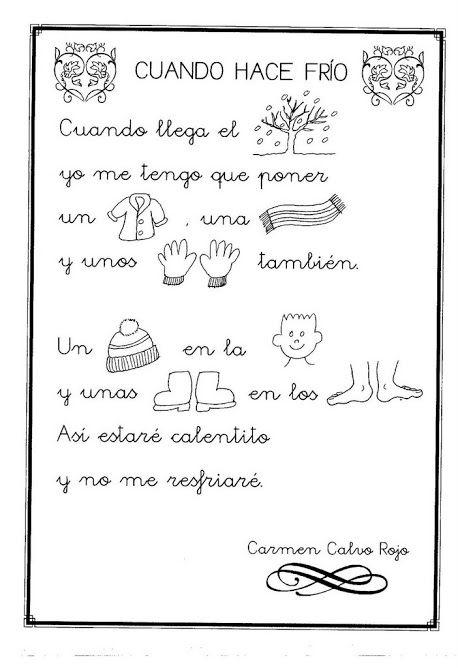 Pin De Ruth Beltran En Grafomotficidad Poesias Infantiles Poesía Para Niños Español Preescolar