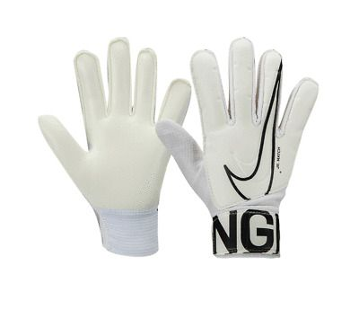 Nike Junior Match 19 Gk Gloves Gs3883 100 Kids Soft Grip Goalkeeper Glove In 2020 Goalkeeper Gloves Goalkeeper Gloves