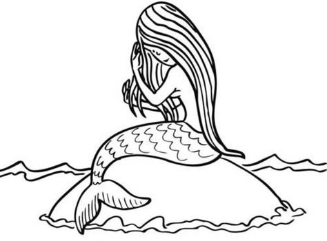 Ausmalbild Märchen Kostenlose Malvorlage Meerjungfrau