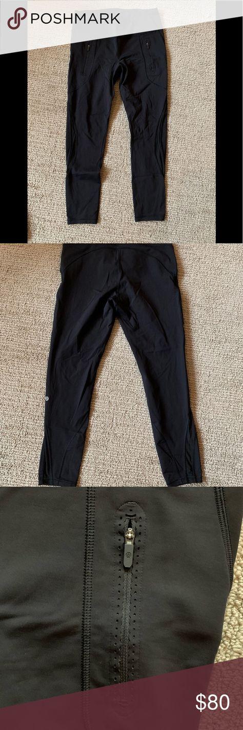 ddc5e53c80fc7f Lulu Lemon leggings Black Lulu Lemon leggings with mesh detail on side and  pockets. lululemon