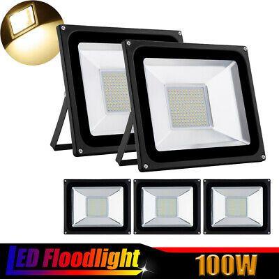 Details About 5x 100w Warm White Led Flood Light Outdoor Garden Lamp Lighting Floodlight 110v In 2020 Garden Lamps Led Flood Flood Lights