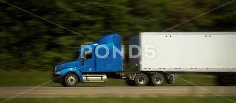 Semi Trucks on Freeway Stock Image ~ Royalty Free #73723656