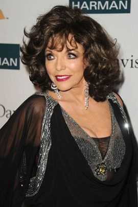 Joan Collins: 5 Husbands  Actress Joan Collins arrives at Clive Davis