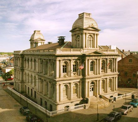 U.S. Custom House in Portland, ME. The Portland Custom House was built between 1867 and 1872 to accommodate the city's growing customs business, making Portland one of the most significant seaports in the country. It is the best remaining example of Alfred Mullett's work in the state of Maine and continues to serve its original function.