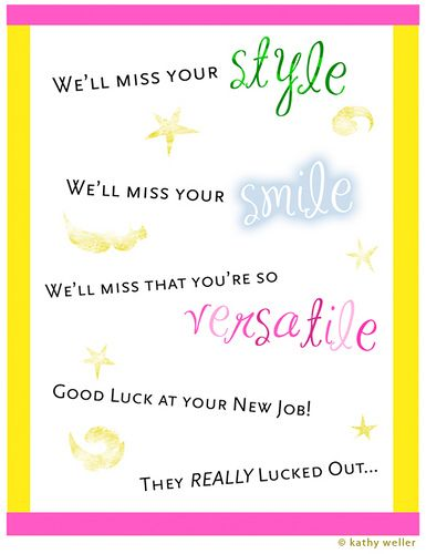 Free Printable Farewell Cards For Coworkers Just B Cause With