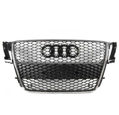 Sponsored Ebay Honeycomb Mesh Rs5 Style Hex Grille Black Chrome Trim For 08 12 Audi A5 S5 B8 8t In 2020 Audi A5 Audi Chrome