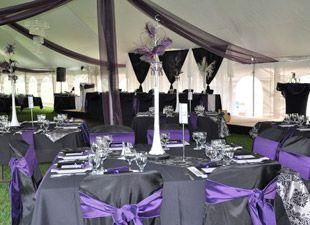 Purple And Gray Wedding Decorations Table Settings Ideas Pinterest Grey Weddings