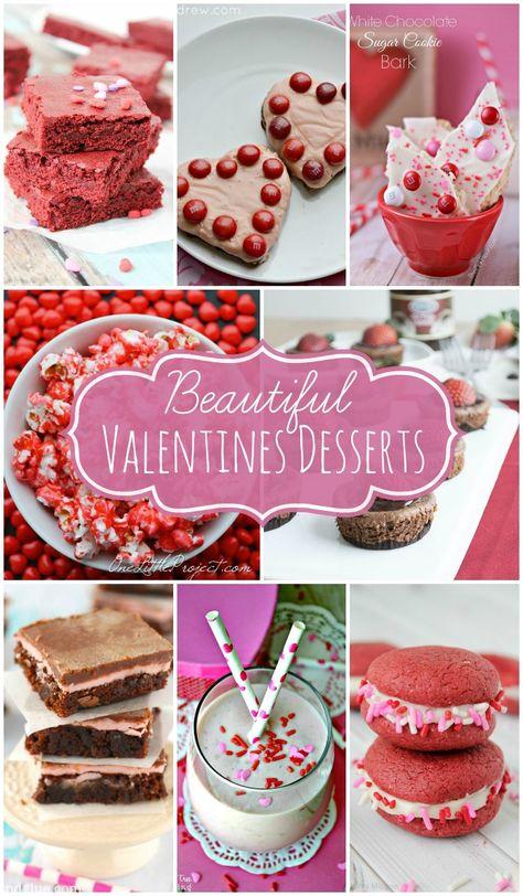 Beautiful Valentine's Desserts to make on Valentine's Day!! So cute and so tasty! { lilluna.com }