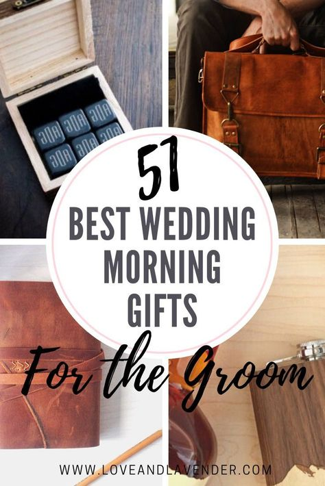 Surprise the groom on his wedding morning with a gift he'll love. We've rounded up 51 of the best gift ideas to get you started! Wedding Day Groom Gift, Bride And Groom Gifts, Best Wedding Gifts, Best Gifts, 40th Anniversary Gifts, Homemade Anniversary Gifts, Second Anniversary, Anniversary Ideas, Groomsmen Proposal