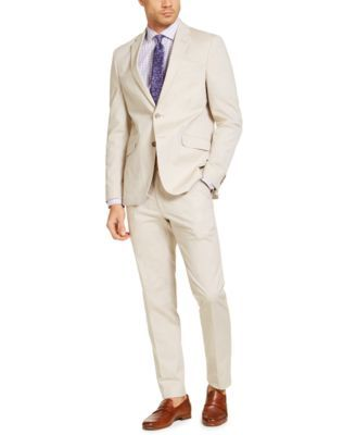 Unlisted by Kenneth Cole Mens Stretch Chambray Suit Business Suit Pants Set