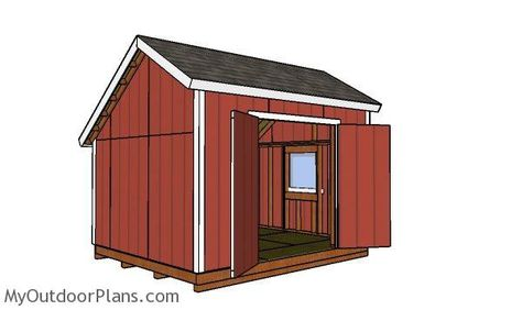 10x12 Saltbox Shed Plans Shed Plans Shed With Loft Diy Shed