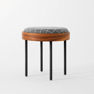 Nipa Doshi And Jonathan Levien Chandlo Stool Structure In Plywood  (rosewood) And Legs In