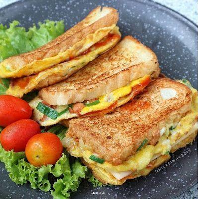 Resep Cara Membuat Roti John Roti Tawar Enak Yang Lagi Viral Resep Makanan Resep Masakan Resep Sandwich