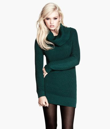 Teal Sweater Dress From H M I Cant Tell If Id Be Comfy In It