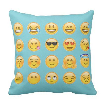 Emoji Pack Throw Pillow Emoji Emojis Smiley Smilies Throw Pillows Decorative Throw Pillows Emoji